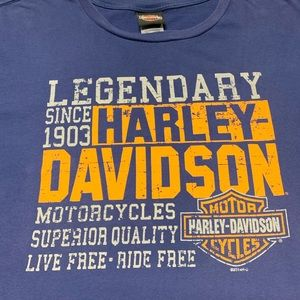 Harley-Davidson Shirts - Harley Davidson Motorcycles Flames Ohio Shirt